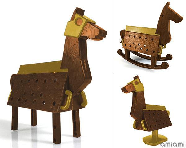 Love Toys Vol.3 三角木馬 Wooden horse 1/12 未塗装 未組み立てキット