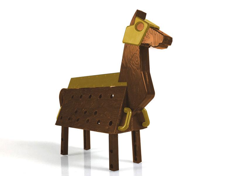 Love Toys Vol.3 三角木馬 Wooden horse 1/12 未塗装 未組み立てキット-001