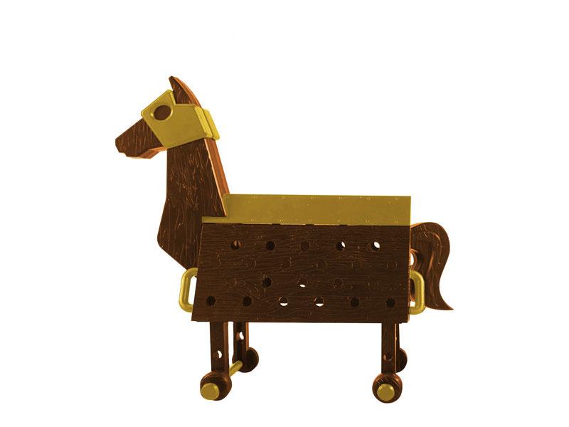 Love Toys Vol.3 三角木馬 Wooden horse 1/12 未塗装 未組み立てキット-003