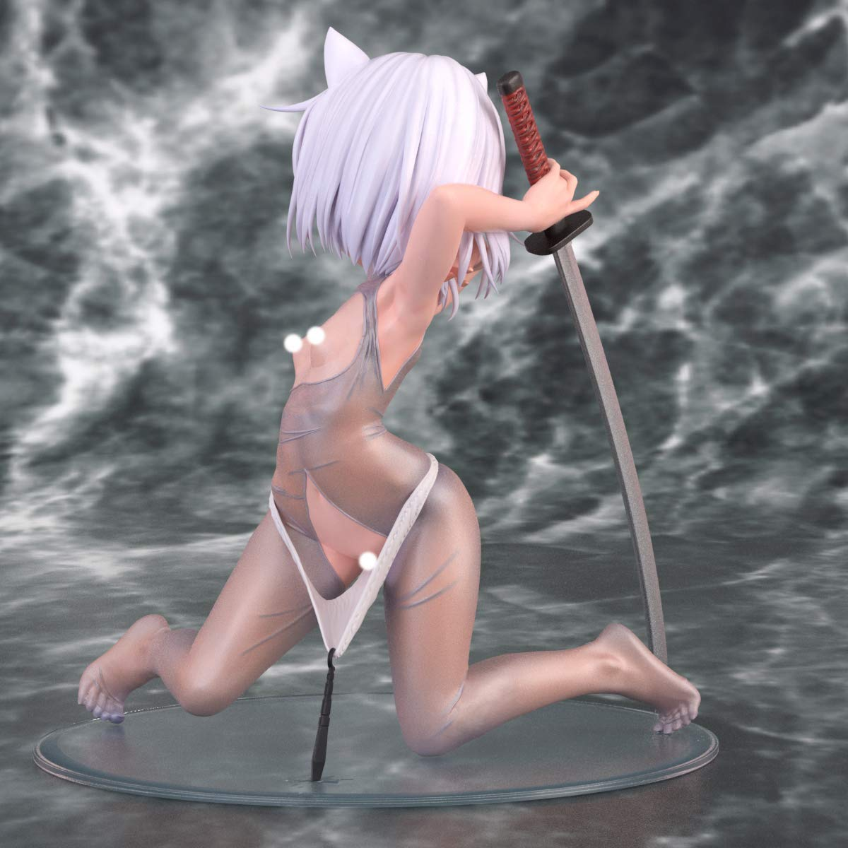 オリジナルキャラクター『神山 貧乳脱衣ver』1/5 完成品フィギュア-004