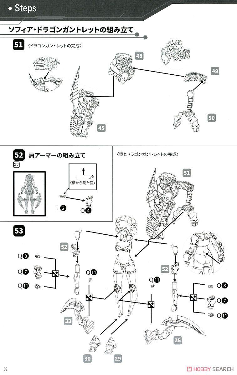 DarkAdvent Vol.1『Dragondress ソフィア DX Ver.』ダークアドヴェント プラモデル-038