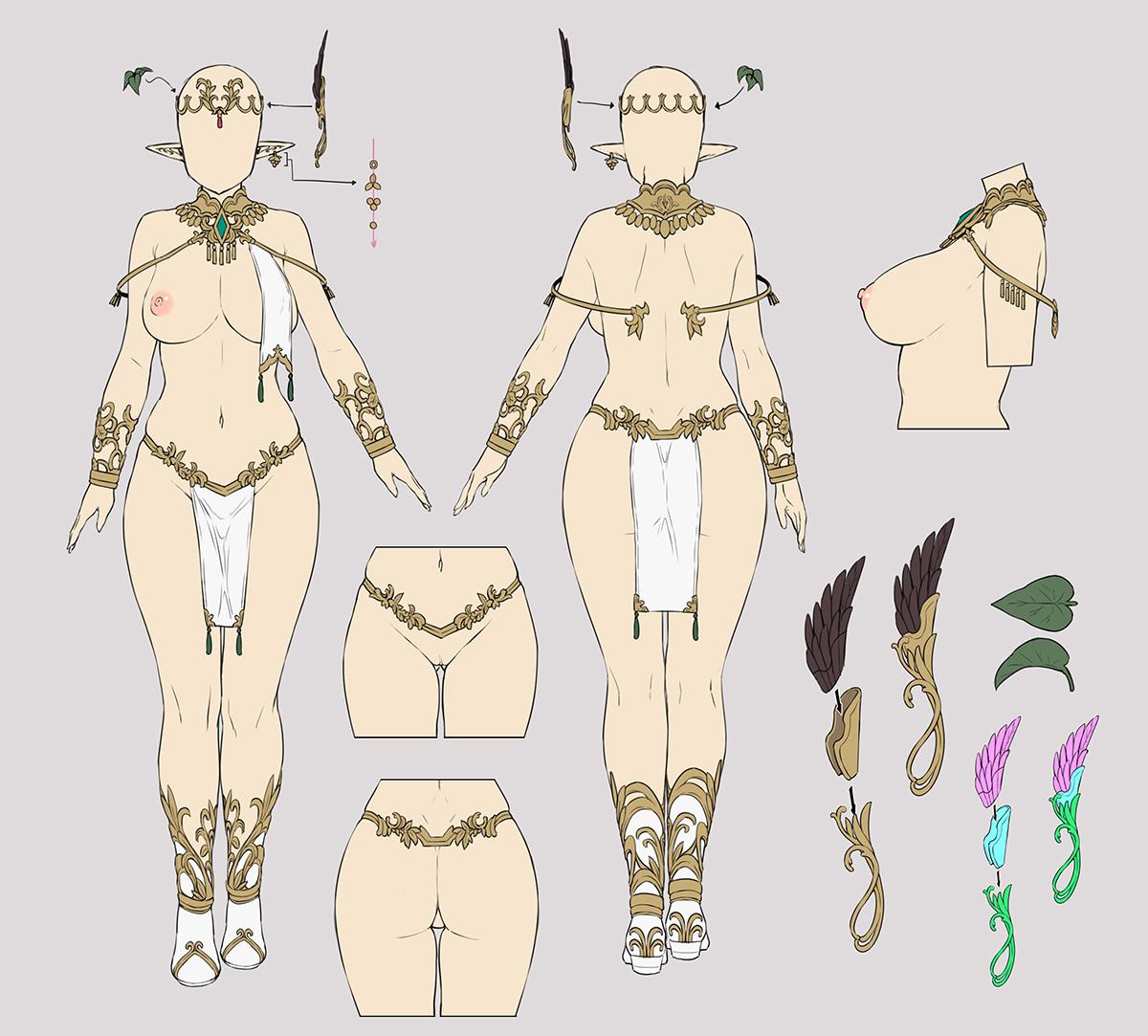 Caress of Venus:方天戟 figure collection『-エルフの褥(しとね)- リリー・レリウム』1/7 完成品フィギュア-020