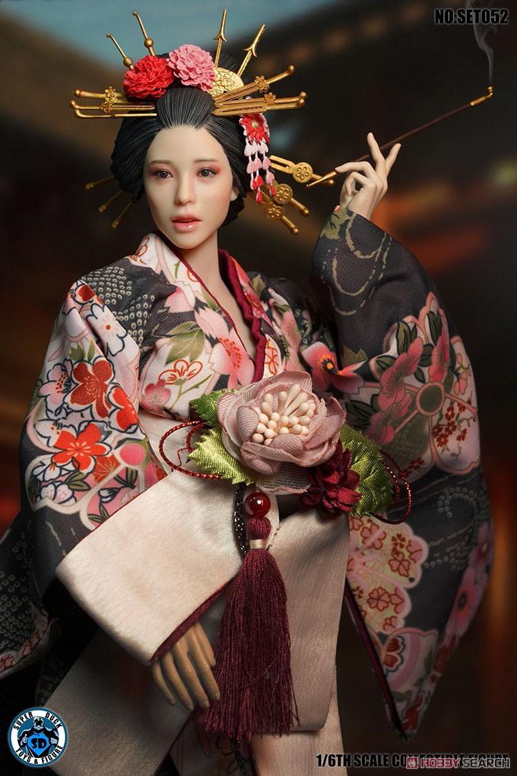 1/6ドール用『花魁 コスチューム&ヘッドセット』ドール服&ヘッド-002