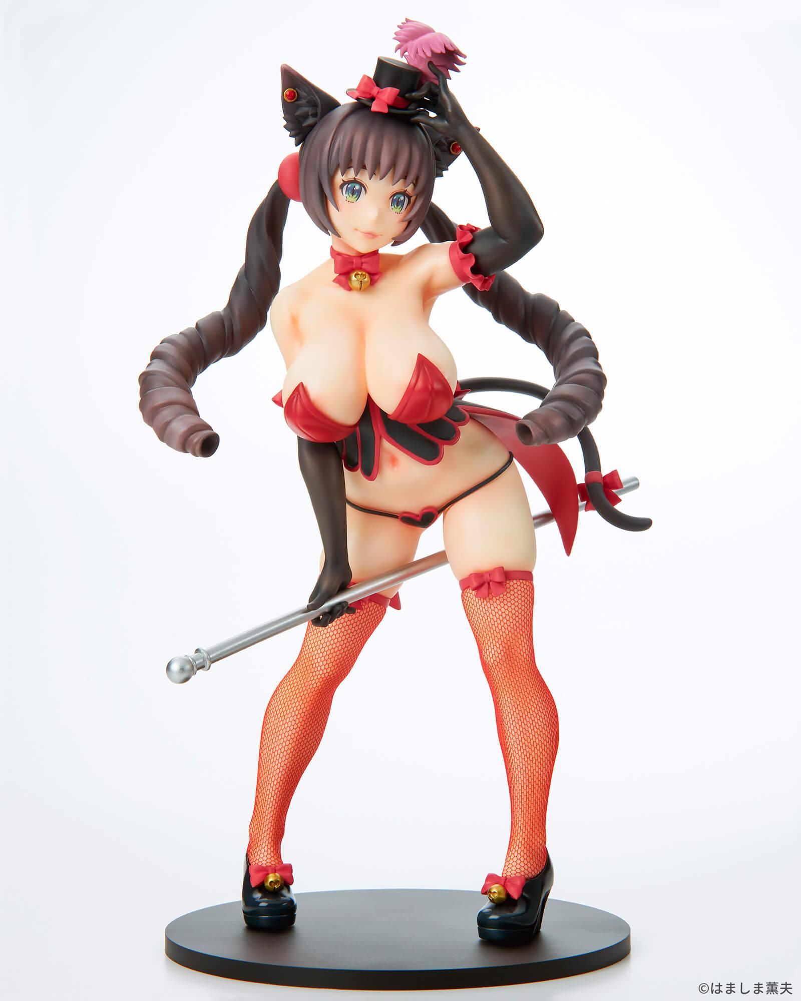 はましま薫夫オリジナルキャラクター『バーレスクキャット ベル 黒猫ver.』1/7 完成品フィギュア-001