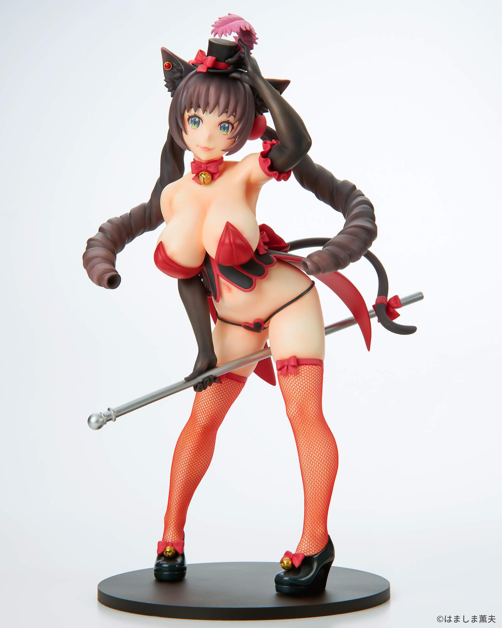 はましま薫夫オリジナルキャラクター『バーレスクキャット ベル 黒猫ver.』1/7 完成品フィギュア-003