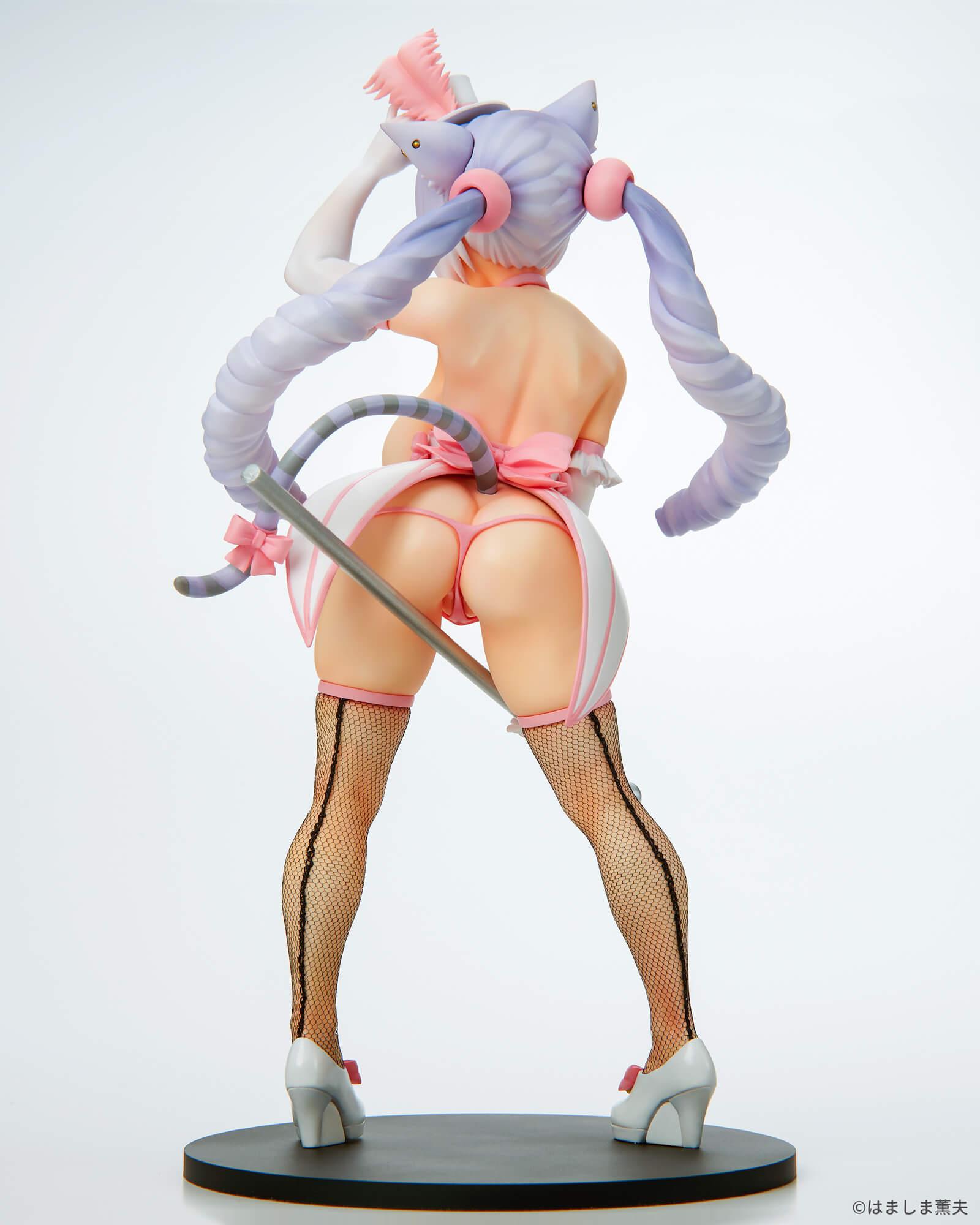 はましま薫夫オリジナルキャラクター『バーレスクキャット ベル 白猫ver.』1/7 完成品フィギュア-011