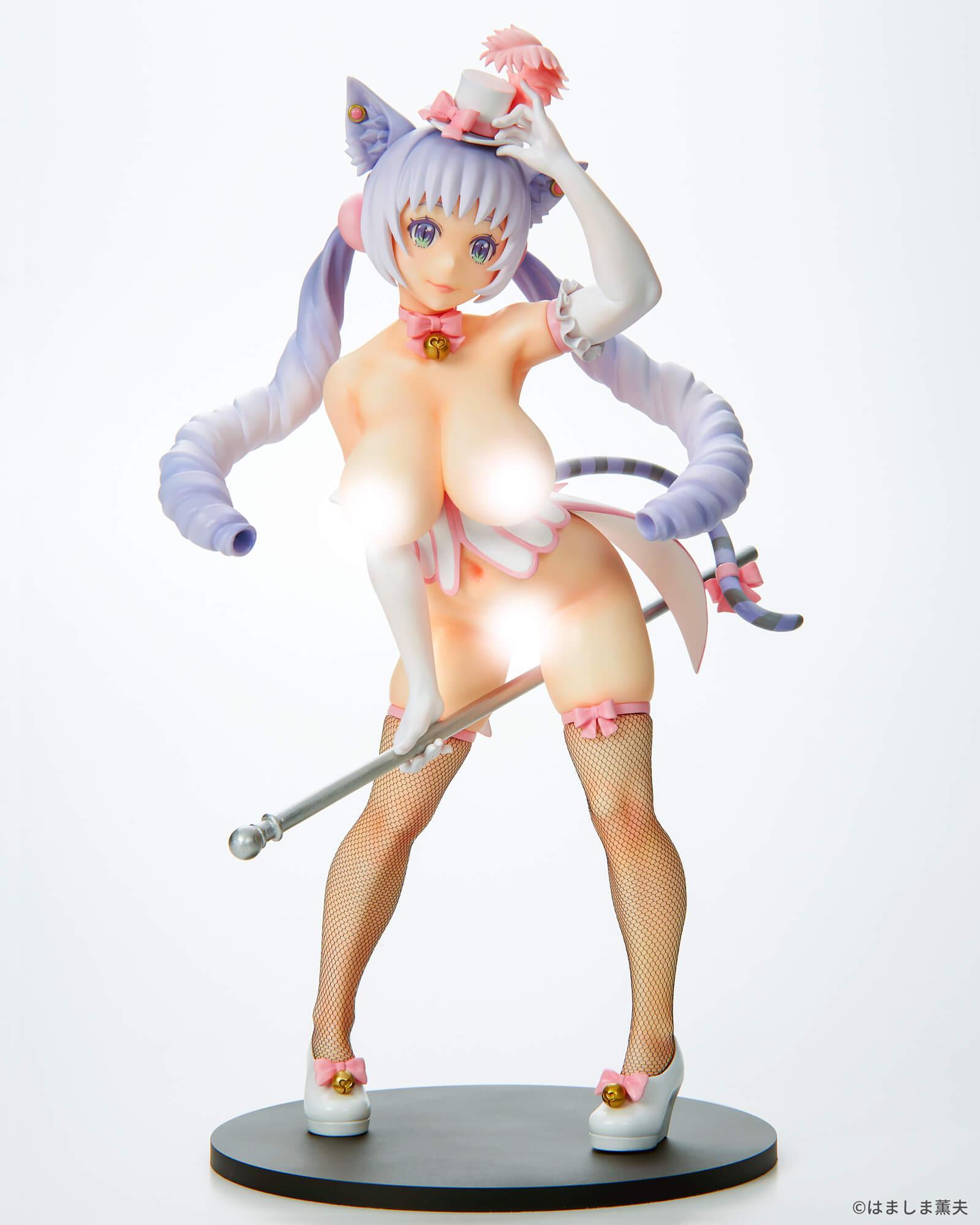 はましま薫夫オリジナルキャラクター『バーレスクキャット ベル 白猫ver.』1/7 完成品フィギュア-015